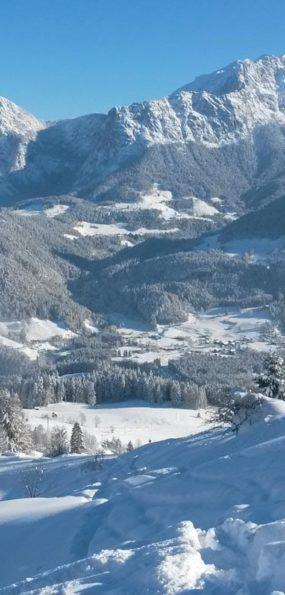 salzburger saalachtal im winter